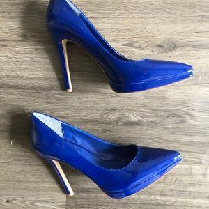 BCBGeneration Cobalt Blue Patent Heels Pumps